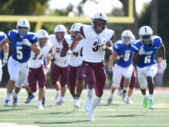 Don Bosco RB Jalen Berger ran for 114 yards and racked up 86 yards in the Ironmen's loss to St. Joseph.