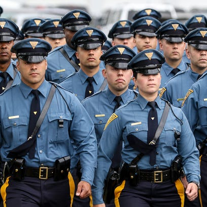 A graduating class of the State Police in 2013. More