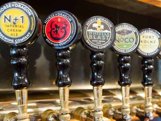 Taps at Horse & Dragon Brewing in Fort Collins.