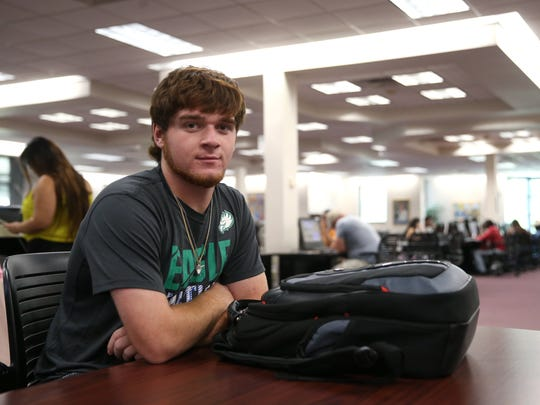Matthew Spears, a Godby senior, attends Tallahassee Community College as part of a dual enrollee program where he will graduate high school this spring with an associate's degree from the community college.