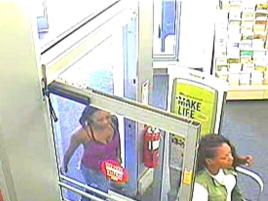 A security photo showing two of three women, who were accused of robbing a CVS Pharmacy on May 25 on Oddie Boulevard.