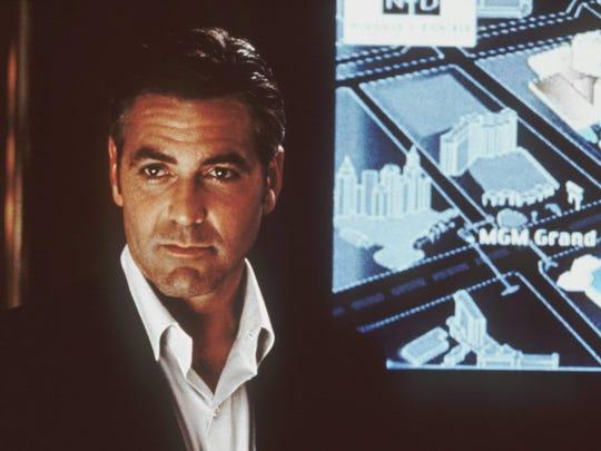 "George Clooney displays his brand of cool in ""Ocean's Eleven"" (2001)."