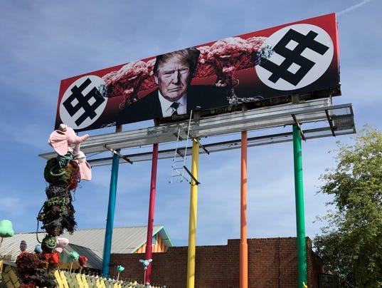 Trump billboard