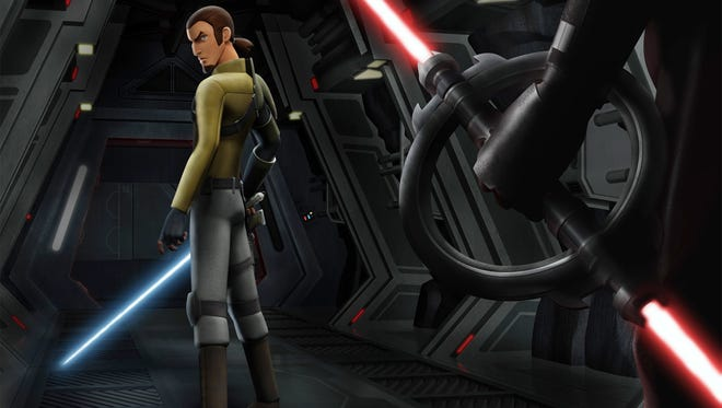 "When Kanan (voiced by Freddie Prinze Jr.) faces foes in ""Star Wars Rebels,"" his lightsaber will be reflecting the feel and look of those from the first ""Star Wars"" movie in 1977."