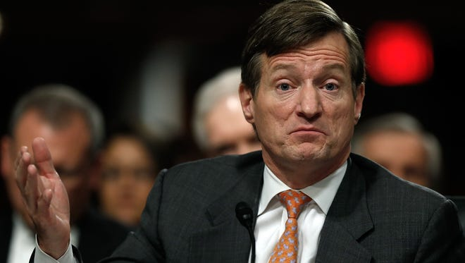 Credit Suisse CEO Brady Dougan testifies before the Senate Homeland Security and Governmental Affairs Committee on Feb. 26 in Washington, D.C.