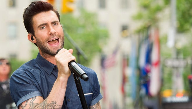 """Adam Levine of Maroon 5 performs on NBC's """"Today"""" show on Wednesday, June 25, 2014 in New York."""