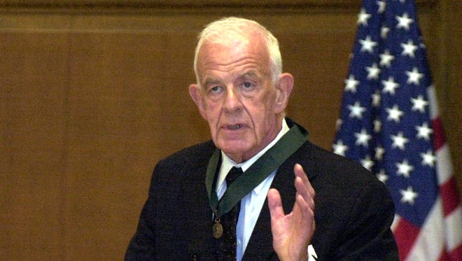 Democrat Tom Foley, a former House speaker and U.S. ambassador to Japan was awarded Washington state's Medal of Merit in 2003.