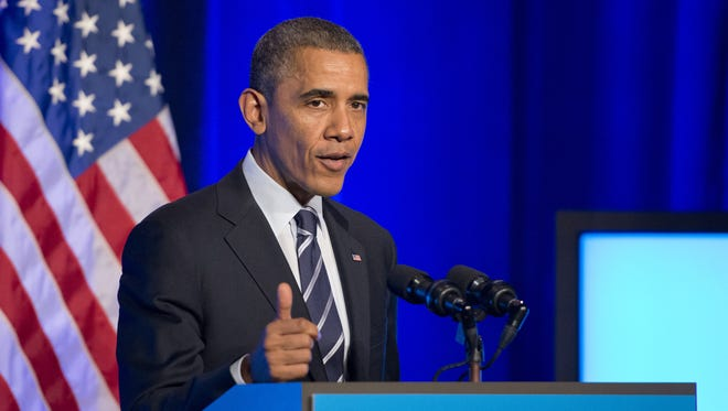 President Obama speaks at an Organizing for Action event in November.