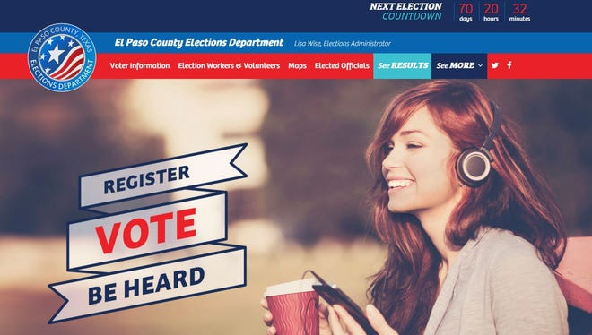 The El Paso County Elections Department website has a new look.