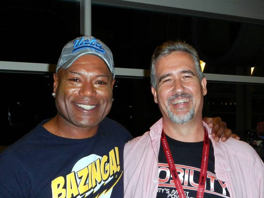 """Christopher Judge and Tom Gardiner. Judge played the character Teal'c on """"Stargate: SG-1"""" and """"Stargate: Atlantis."""" Gardiner is one of the fans behind the StargateNow movement."""