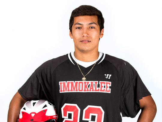 2017 Spring Player of the Year finalist Marc Galindo, Immokalee lacrosse