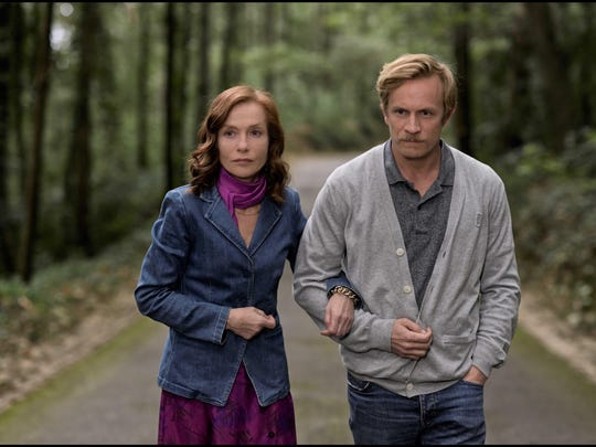 "Isabelle Huppert and Jérémie Renier in ""Frankie."""