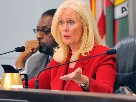 Trudie Infantini, a Brevard County commissioner in District 3, is running for Brevard County clerk of courts, and contends that another candidate in the race, Steve Burdett, must resign to continue to run.