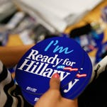 Ready for Hillary apparel and accessories are packed up in Arlington, Va., on April 3, 2015.