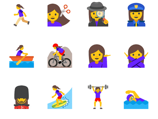 Existing emoji will now have both male and female options.