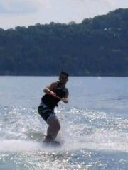 Hayden Graver learned to wakeboard this summer at Table Rock Lake.