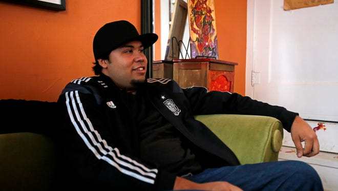 Christafari drummer Alex Avila talks about how he got into the band on Wednesday at Mudpuddles in Farmington.