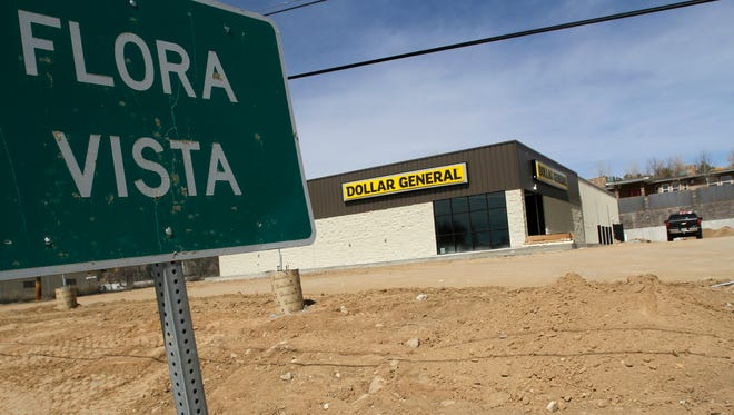 Construction continues at a new Dollar General store on March 21 in Flora Vista.