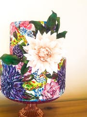 A hand-painted cake from Cristina Vazquez's Petal Dust