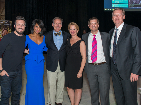 "Celebrity chef Fabio Viviani – best known for his appearances on Bravo's hit reality series ""Top Chef"" and ""Top Chef All Stars"" — was the 2016 CHAMPS for Mott gala host. The gala dinner, which had more than 300 Mott supporters, was emceed by Rhonda Walker, WDIV TV 4 News Morning Anchor, and Brandon Roux, WDIV TV 4 News Meteorologist. From left, Chef Fabio Viviani, Rhonda Walker, Regent Andrew C. Richner, Susan Richner, Brandon Roux, and Dr. John Charpie."