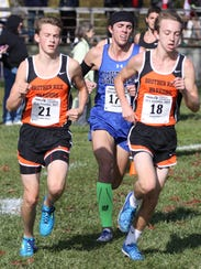 Brother Rice's Grant Davey (left) and Alex Miracle