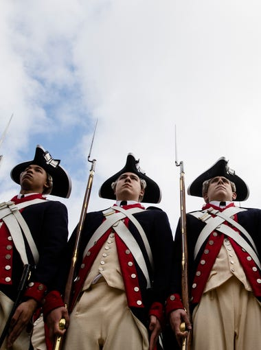 The Museum of the American Revolution opened April 19, 2017 in Philadelphia and as part of the celebration members of the 3rd U.S. Infantry Regiment (The Old Guard) participated in the ceremony.