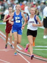 Lexington's Mackenna Curtis-Collins has the area's leading times in the 800 and 1,600 and ranks third in the 3,200.