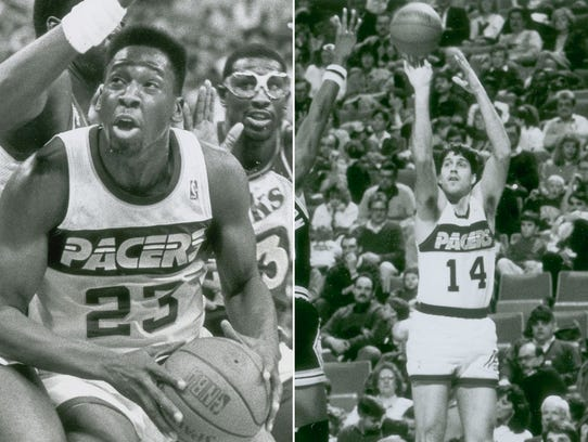 Wayman Tisdale (left) and Randy Wittman (right).