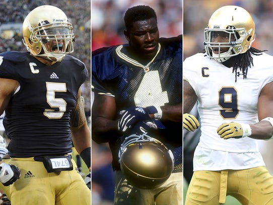 Left to right: Manti Te'o, Kory Minor and Jaylon Smith.