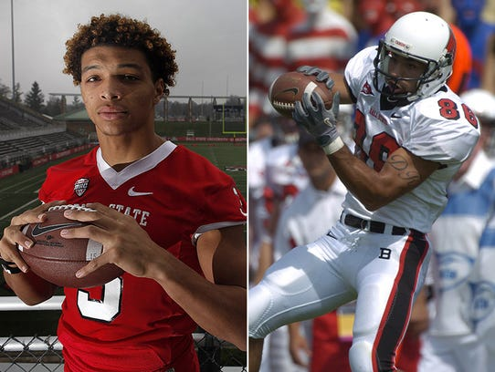 Ball State receivers Willie Snead (left) and Dante