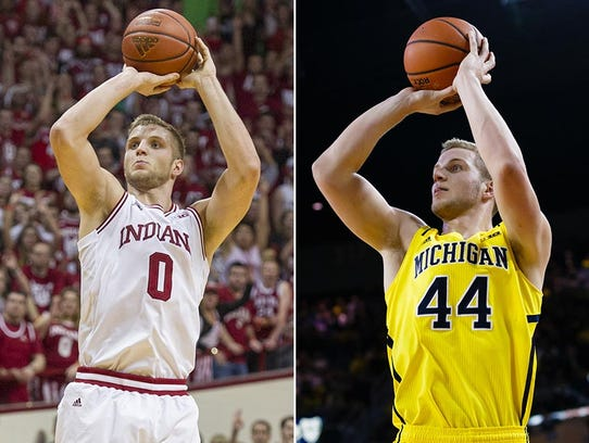 Max Bielfeldt transferred from Michigan to IU for his