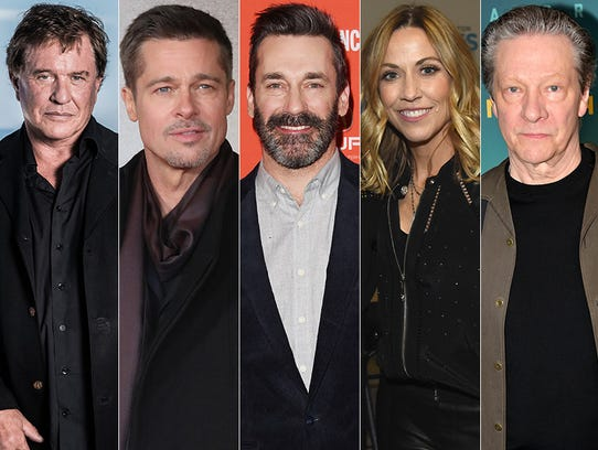 L to R: Tom Berenger, Brad Pitt, Jon Hamm, Sheryl Crow