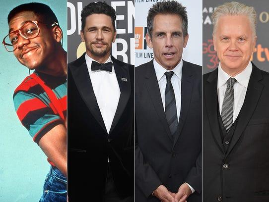 L to R: Jaleel White, James Franco, Ben Stiller and