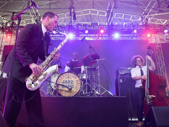 The Preservation Hall Jazz Band perform at New York's inaugural  Panorama Festival last month.