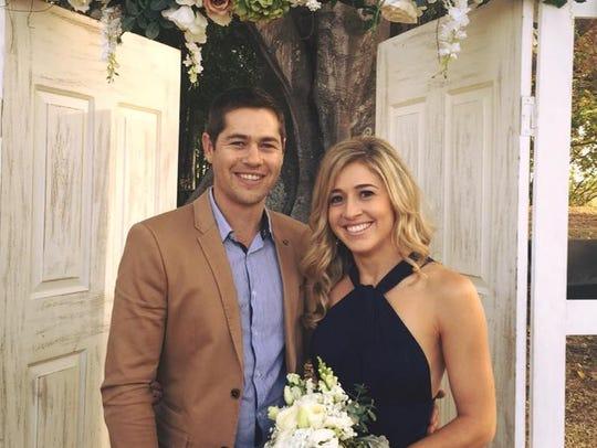 Holly Butcher with her boyfriend, Luke Ashley-Cooper.