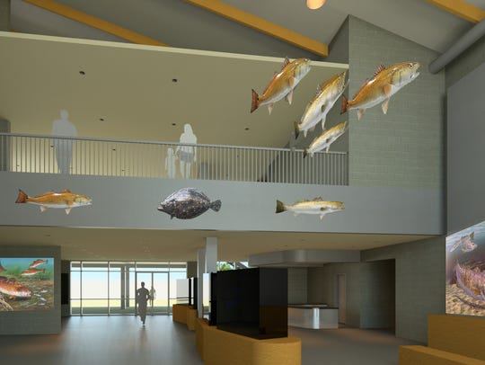 A view of the lobby as presented in the preliminary