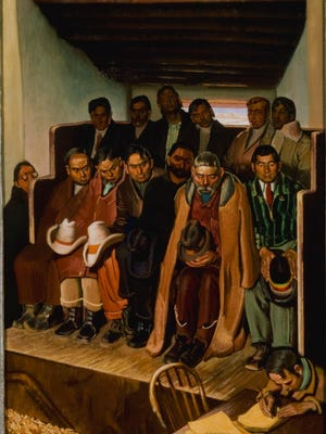 "Ernest L. Blumenschein's 1936 painting ""Jury for Trial of a Sheepherder for Murder"" will be among those discussed at the Rockwell Museum in Corning on May 23."