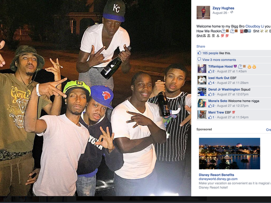 This Facebook post was part of the criminal complaint