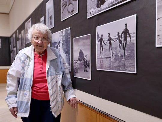 Betty Winn, 90, volunteers at the Oregon State Archives