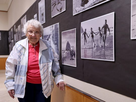 Betty Winn, 90, volunteers at the Oregon State Archives in Salem on Wednesday, June 14, 2017. Winn has volunteered at the Archives for 17 years working on genealogy records and other projects.