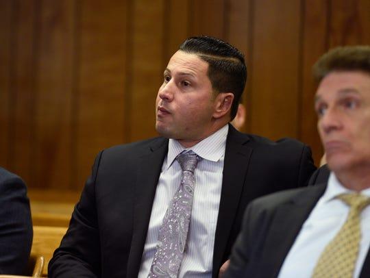 Hearing in Superior Court for (center) Rocco Duardo,
