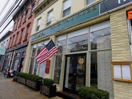 Exterior of Nima Oriental Rugs in Red Bank, NJ Tuesday,