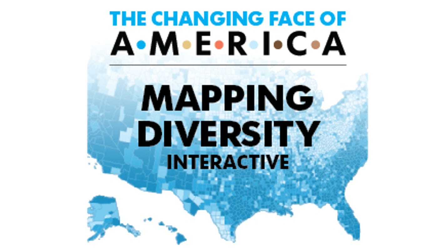 Mapping The USAs Diversity From - Us census interactive map