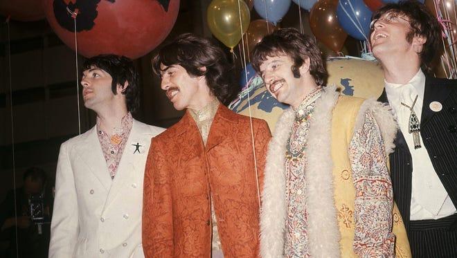 Paul McCartney, left, George Harrison, Ringo Starr and John Lennon of The Beatles appear in London in 1967.