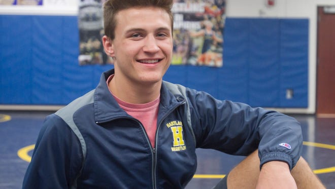 Hartland High School's Reece Hughes has been named All-County Wrestler of the Year.