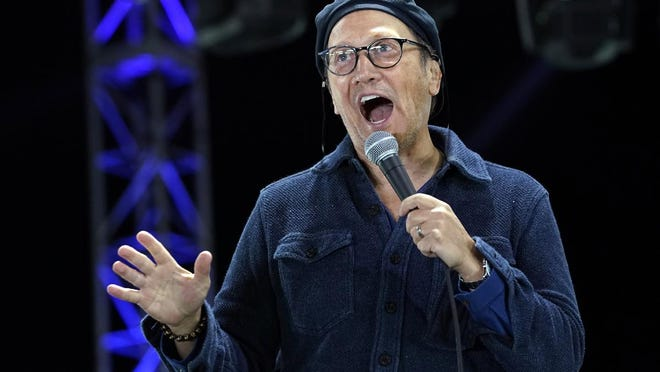 "Comedian Rob Schneider, seen performing at ""Comedy In Your Car"" in August in Ventura, Calif., will bring his stand-up comedy to SRP Park on Nov. 18."