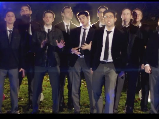 "A still from the video for ""Burn"" by the Maccabeats"