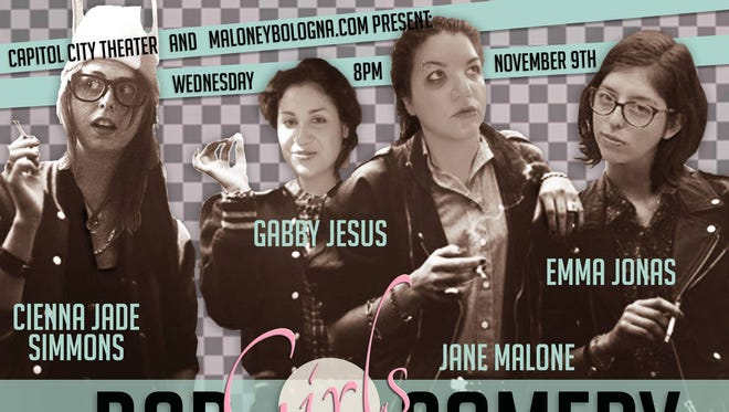 Get ready for the raunchy reality of dating, sex, children and men at Bad Girls Comedy 8 p.m. Wednesday, Nov. 9, at Capitol City Theater, 210 Liberty St. SE, Suite 150.