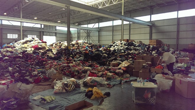 Donations for the victims of Hurricane Harvey, which caused massive flooding in Houston leaving thousands without a home.