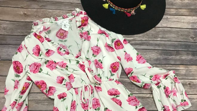 Apricot Lane spring romper and hat